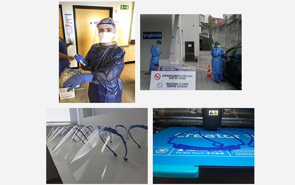 Imagem da notícia: Escola Superior de Biotecnologia produz viseiras