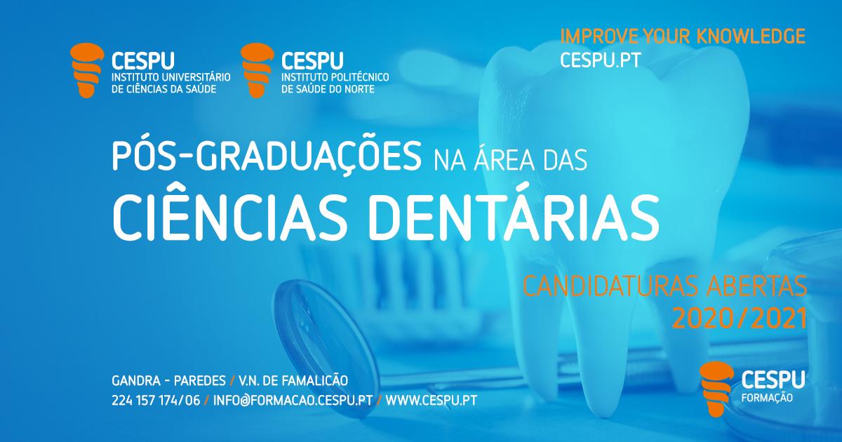 Imagem da notícia: CESPU: candidaturas abertas para pós-graduações na área das ciências dentárias