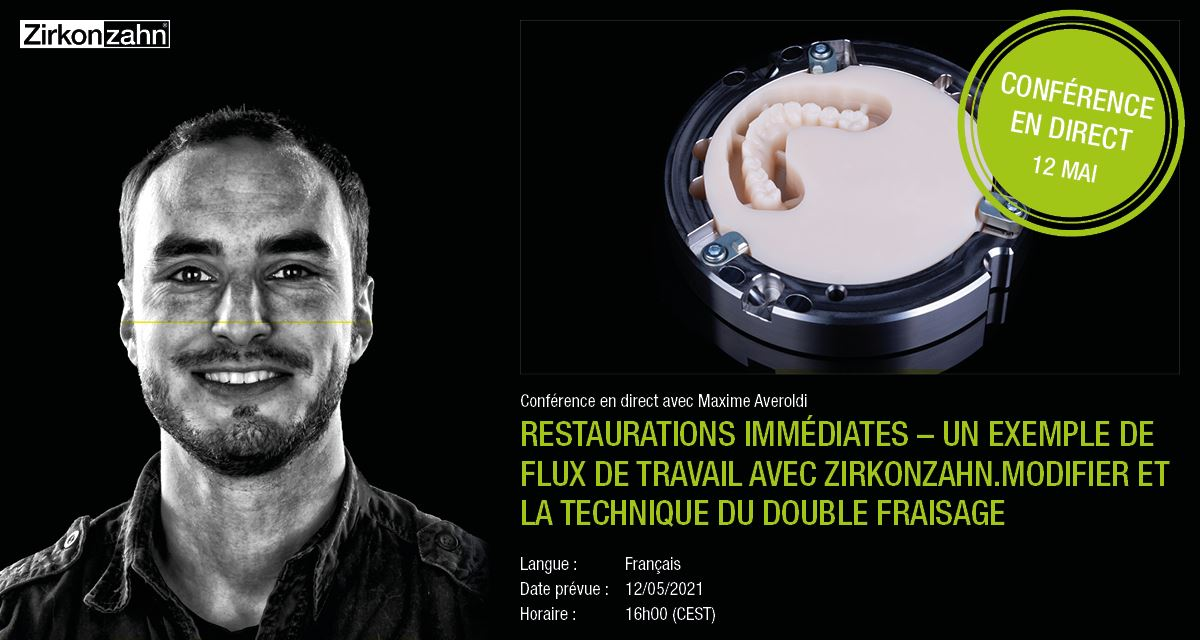 """Imagem da notícia: Zirkonzahn organiza webinar sobre """"Restaurações imediatas – Um exemplo de fluxo de trabalho com Zirkonzahn"""""""