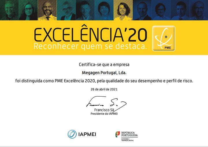 Imagem da notícia: Megagen Portugal recebe prémio PME Excelência 2020