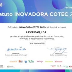 Imagem da notícia: Lasermaq distinguida como Empresa Inovadora COTEC 2021